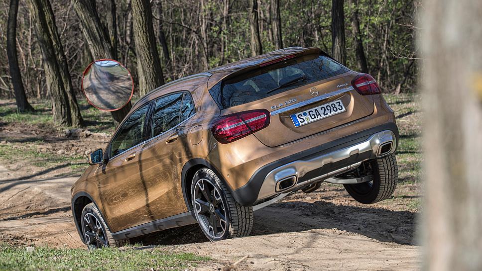 Der Mercedes GLA kann auch offroad
