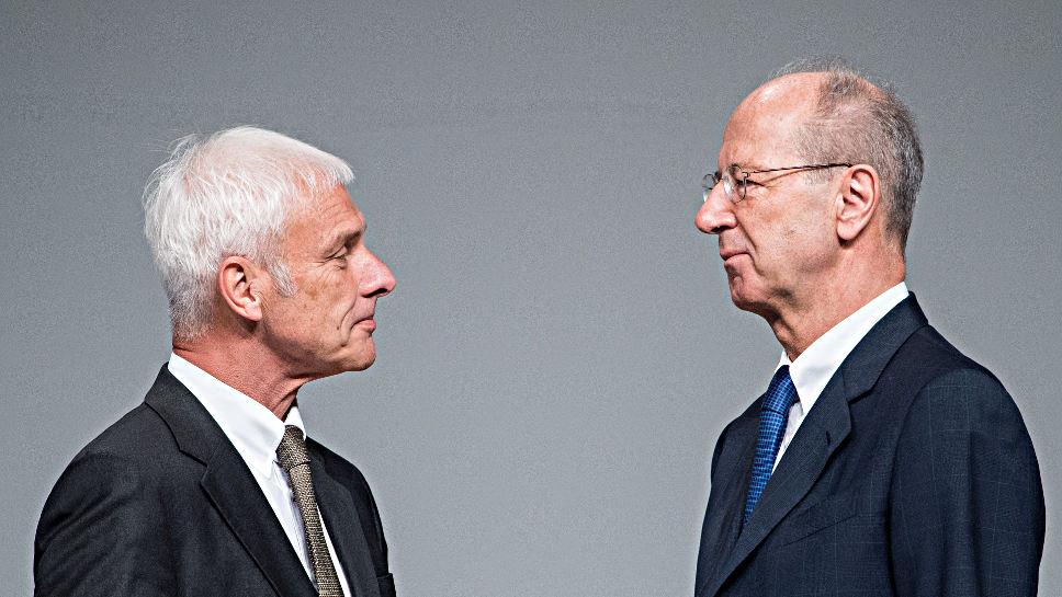 Matthias Müller (l.) und Hans Dieter Pötsch.