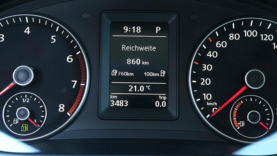 Der VW Caddy TGI schafft bis zu 860 Kilometer bis zum nächsten Tankstopp