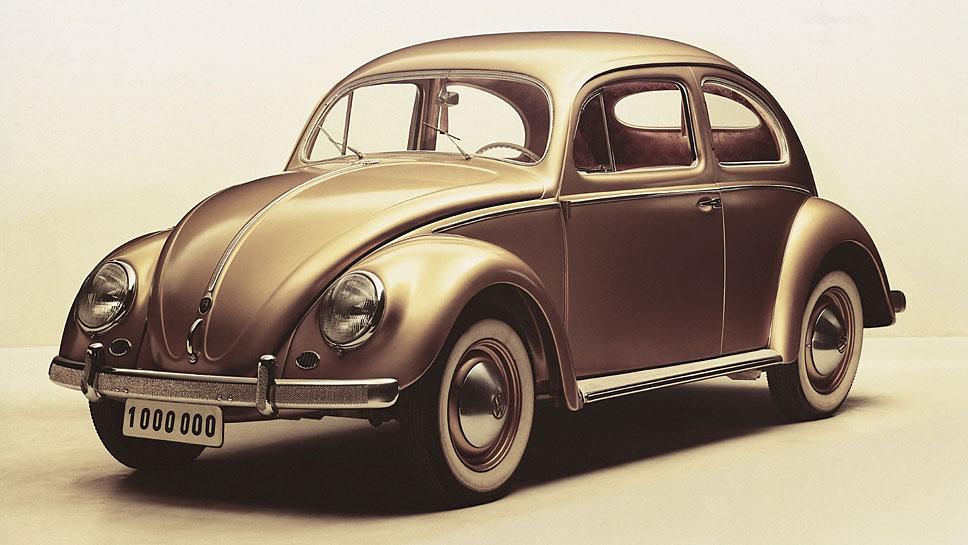 1955 lief der einmillionste Käfer vom Band