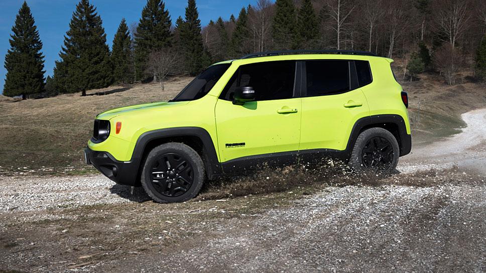 Der Jeep Renegade Upland auf Geländefahrt