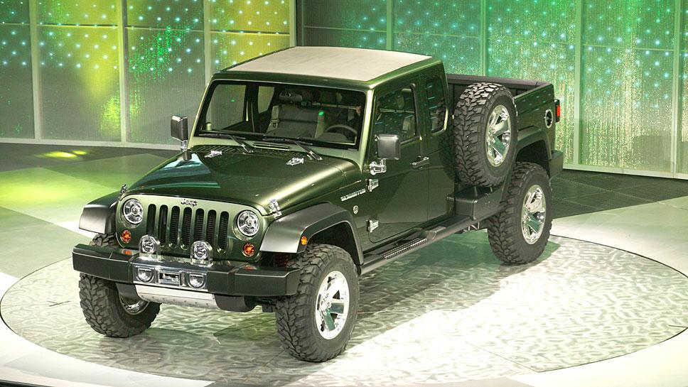 Bereits 2004 hatte Jeep mit dem Gladiator Pickup-Pläne