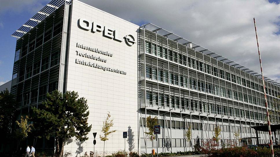 Das Entwicklungszentrum von Opel in Rüsselsheim