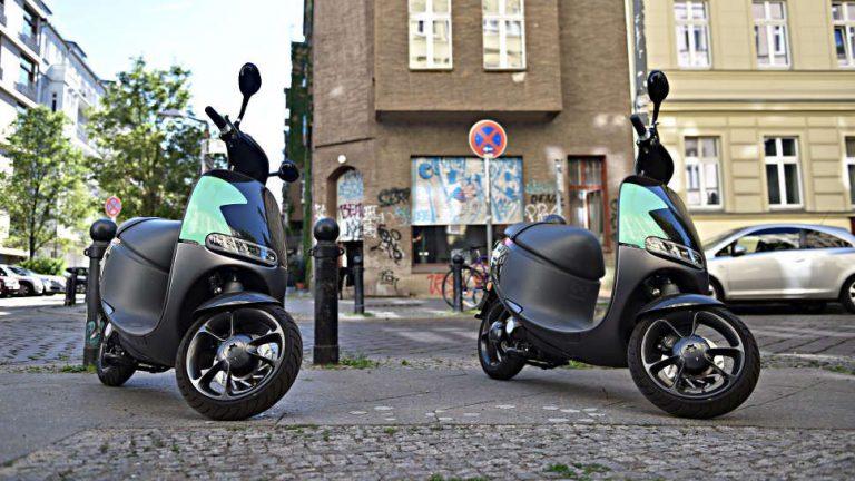 Elektro-Scooter werden in der Stadt immer beliebter