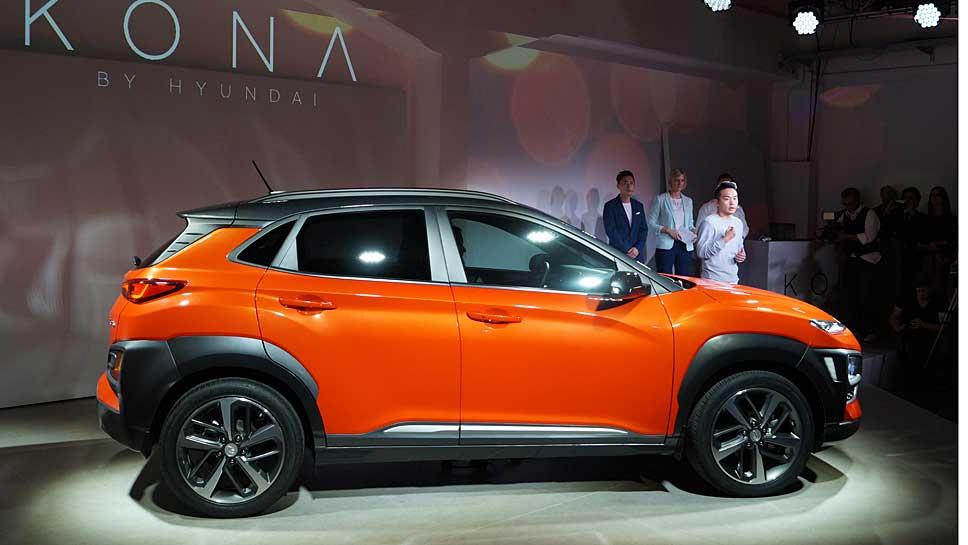 Hyundai feiert in Mailand Premiere mit dem Kona