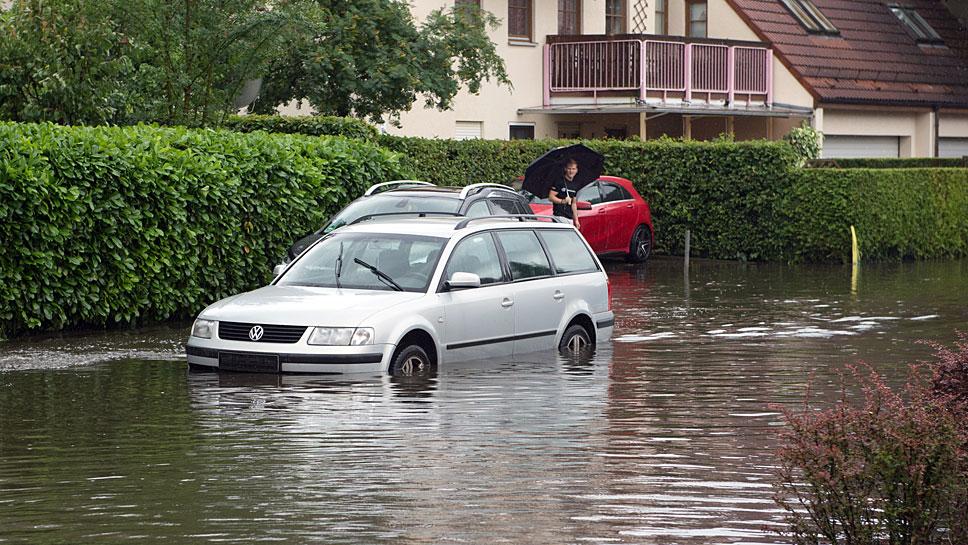 Wasserdurchfahrten sollten vermieden werden