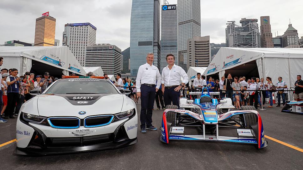BMW Motorsport-Direktor Jens Marquardt (l.) und Formel E-Chef Alejandro Agag