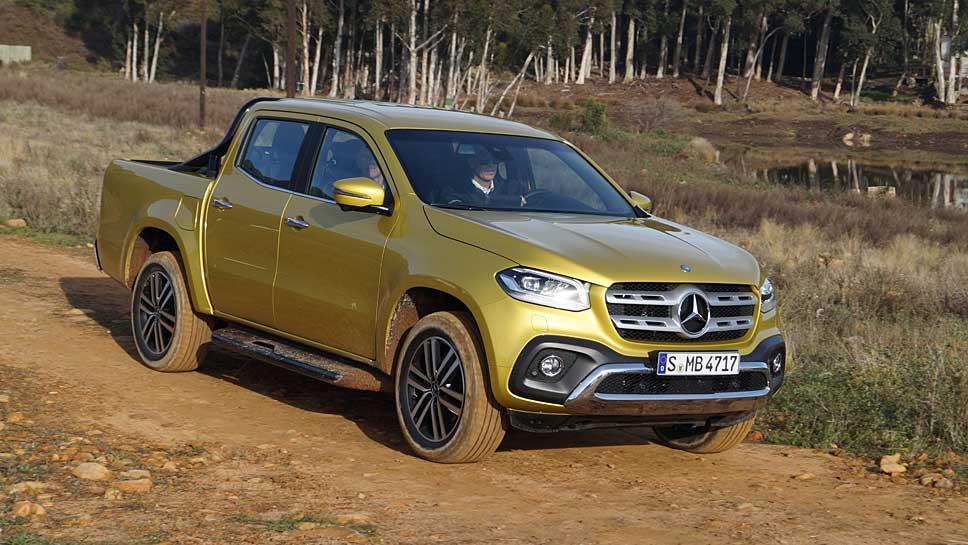 Die X-Klasse von Mercedes scheut keine Fahrten ins Gelände