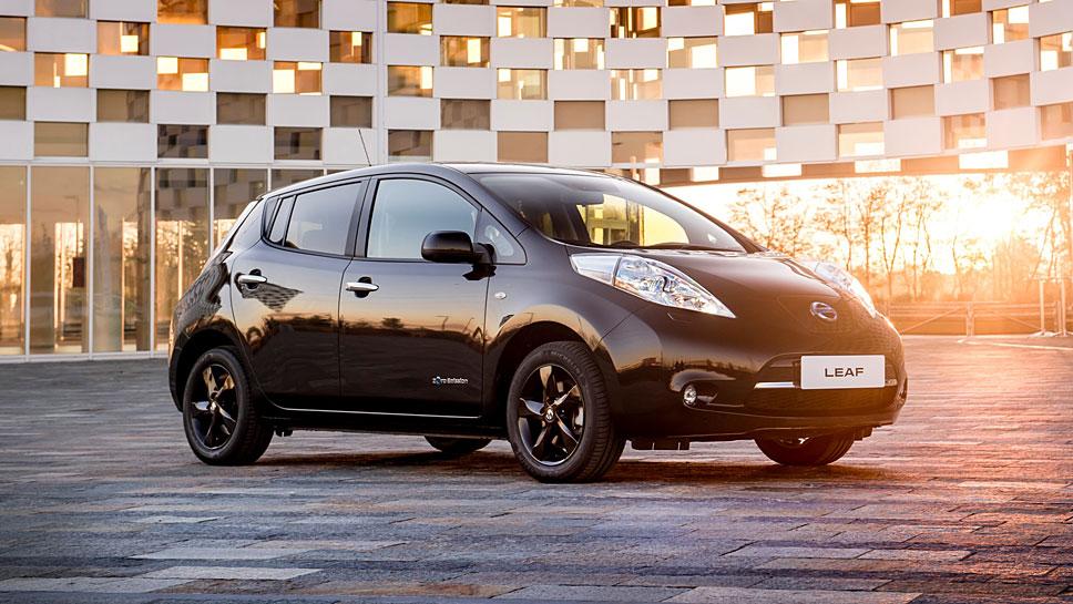 Der aktuelle Nissan Leaf als Black Edition