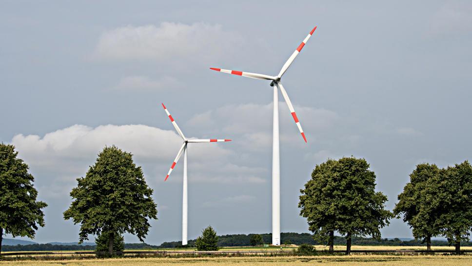 Windräder sorgen für grünen Strom.