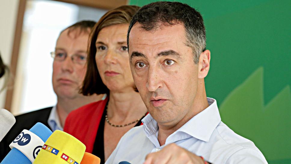 Die Grünen Cem Özdemir, Katrin Göring-Eckardt und Oliver Krischer (v.l.).