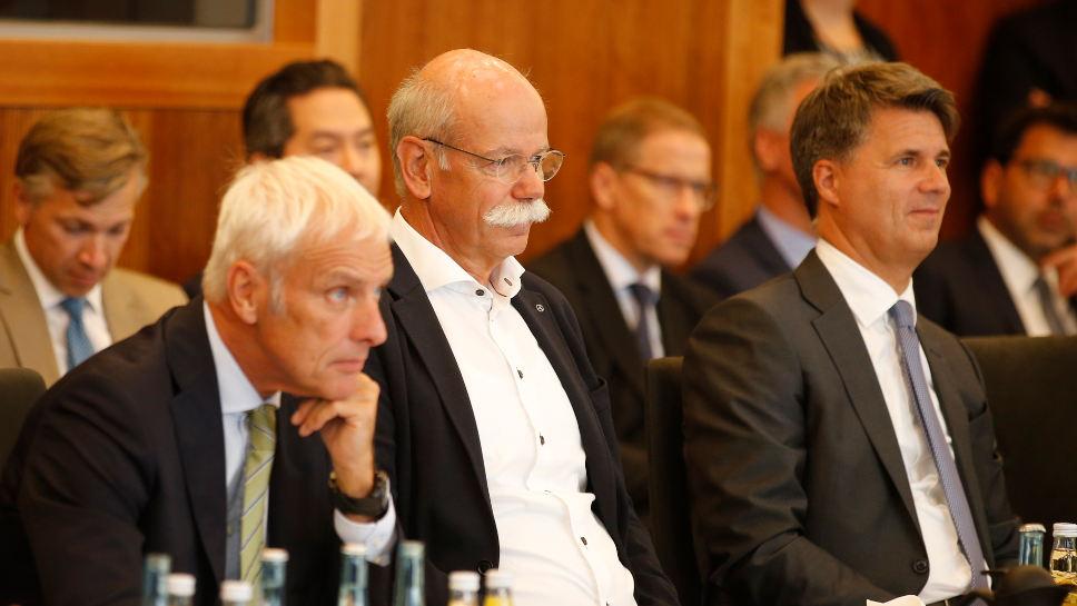 Die deutschen Autohersteller halten am Dieselmotor fest