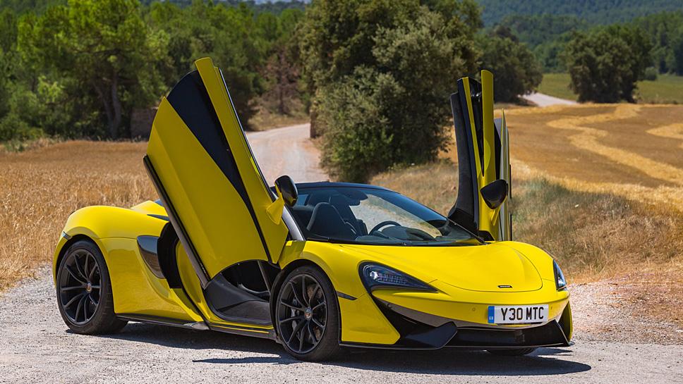 Der McLaren 575S Spider verwöhnt nicht nur aus optischen Gründen
