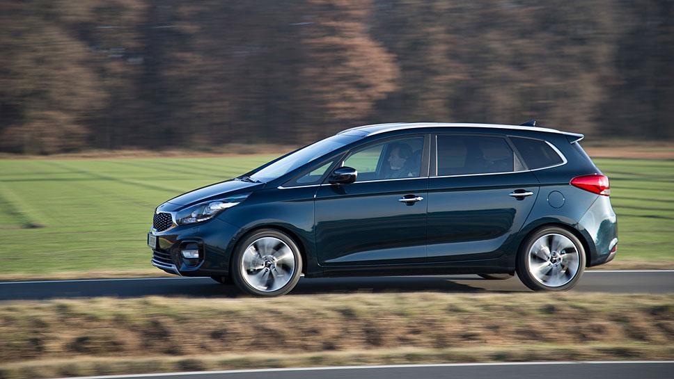 Der Kia Carens präsentiert sich als ausgereiftes Familienauto