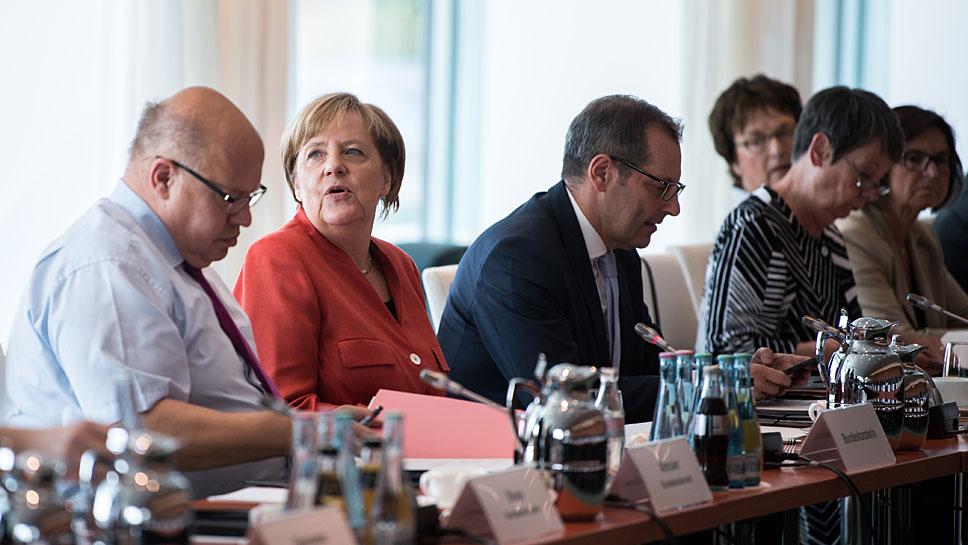 Bundeskanzlerin Angela Merkel beim zweiten Dieselgipfel
